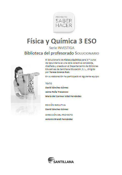 Solucionario Fisica Y Quimica 3 Eso Santillana Pdf 2021